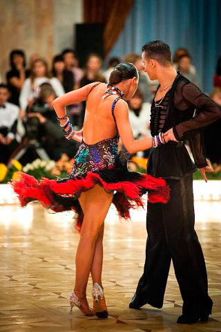 Ballroom Dancesport Latin Couple Cristian Maryana