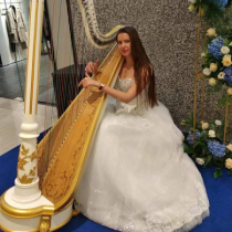 Female Harpist 105432