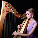 Female Harpist 6328