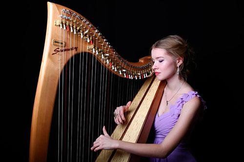 "Female Harpist 6328/ International Talent Agency ""Rising ..."
