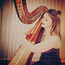 Female Harpist 6822