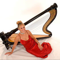 Female Harpist 9851
