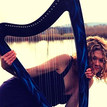 Female Harpist 108635