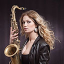 Female Saxophonist 7625