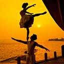 Chinese Ballet Acrobatic Couple 2104